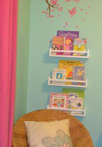 Kylie M Interiors - Ikea Spicerack Bookshelf - Kids' Reading Nook