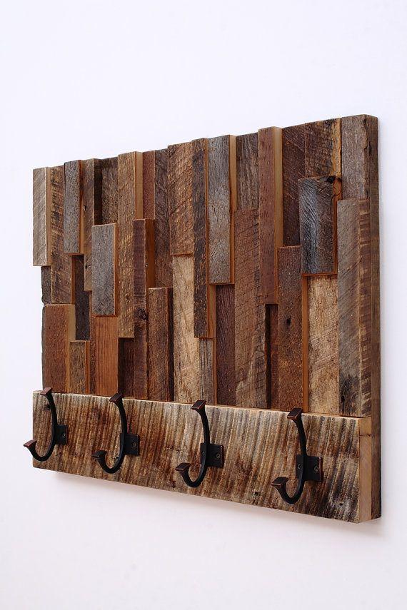 Reclaimed wood art coat rack 24x18.5x4 by CarpenterCraig on Etsy, $295.00 - 25+ Best Reclaimed Wood Art Ideas On Pinterest Pallet Wall Art