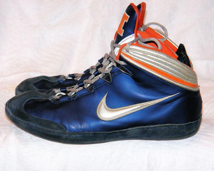 Rare nike illinois kolat il blue orange kolats wrestling shoes mens size 10  ten
