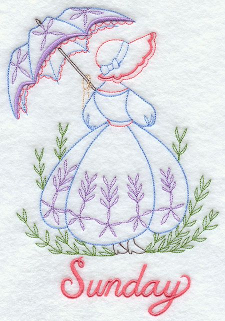 Machine embroidery designs at library color