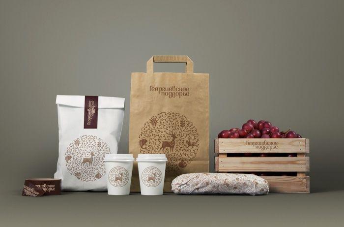 Георгиевское Подворье - разработка логотипа и фирменного стиля, дизайн упаковки