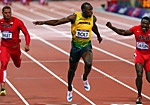 Usain Bolt wins Gold in the 100 m race!