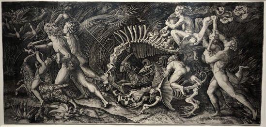 Marcantonio Raimondi and Agostino Veneziano (engraving) The Witches' Rout (the Carcass)