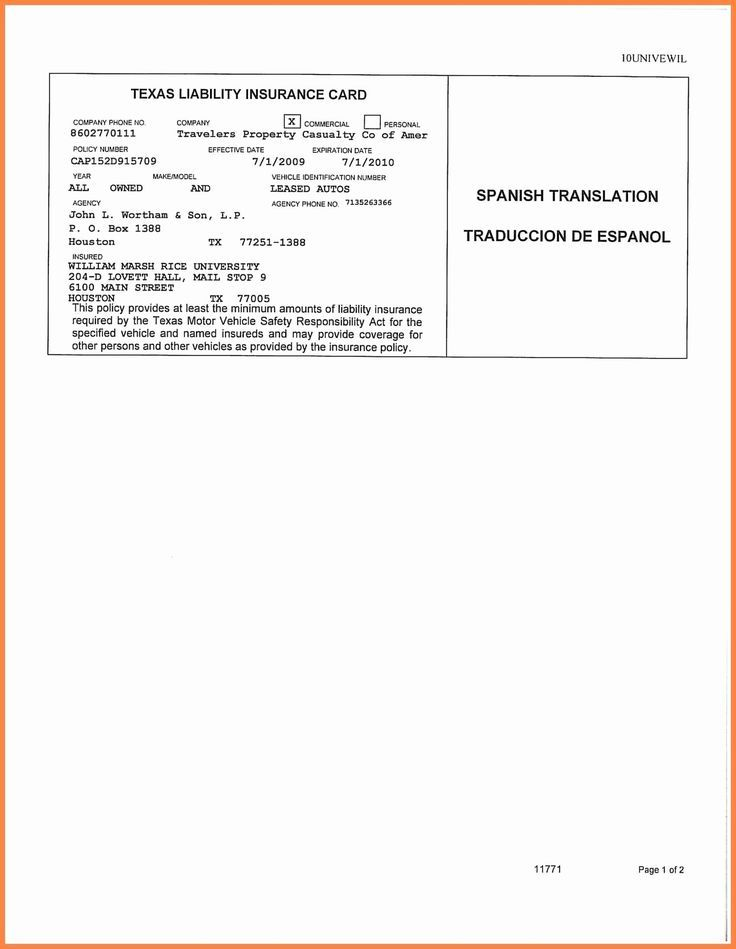 Car Insurance Card Template Free Download 2 Templates Free