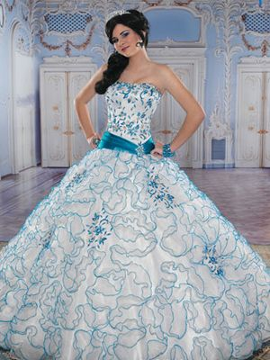 Blue dress for quinceanera quizzes