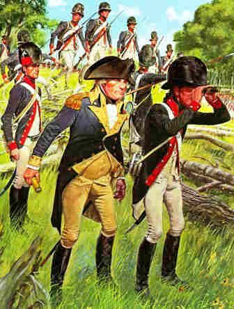 Battle of Fallen Timbers - General Wayne with the 1794 American Legion