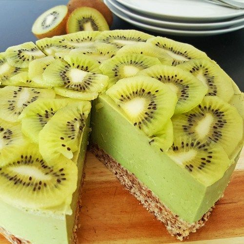 Kiwi avocado kwarktaart - Powered by @ultimaterecipe