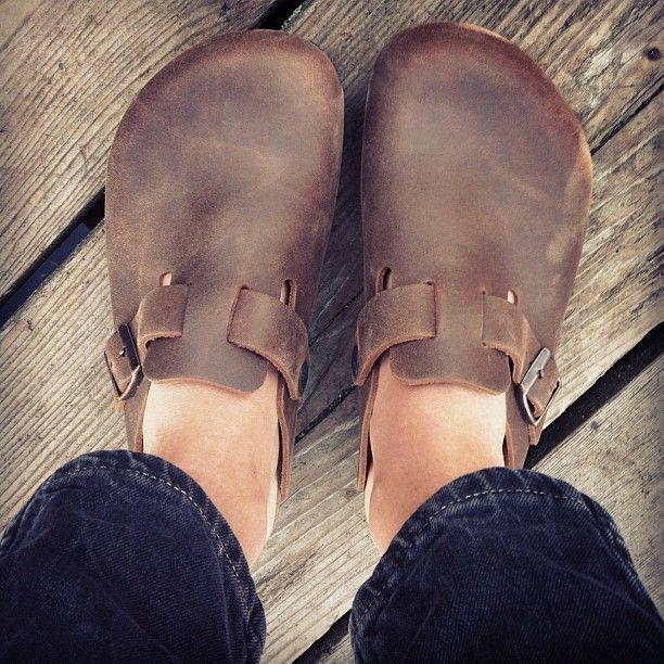 BIRKENSTOCK BOSTON, just got a pair like these, love!