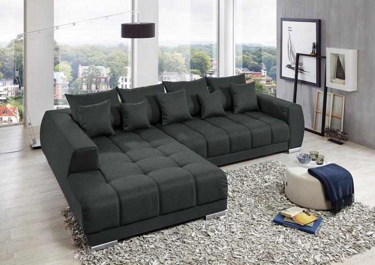 wohnlandschaft in grau von carryhome wohnlandschaften pinterest. Black Bedroom Furniture Sets. Home Design Ideas