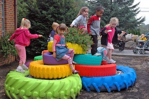 Educación Preescolar: Reciclando llantas