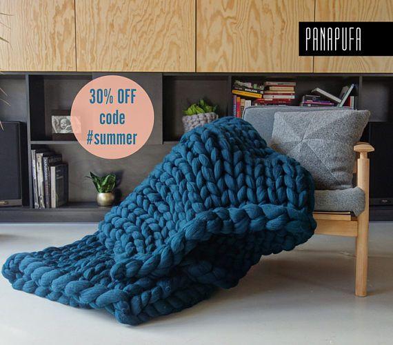 Manta de punto grueso lana gruesa manta manta de punto