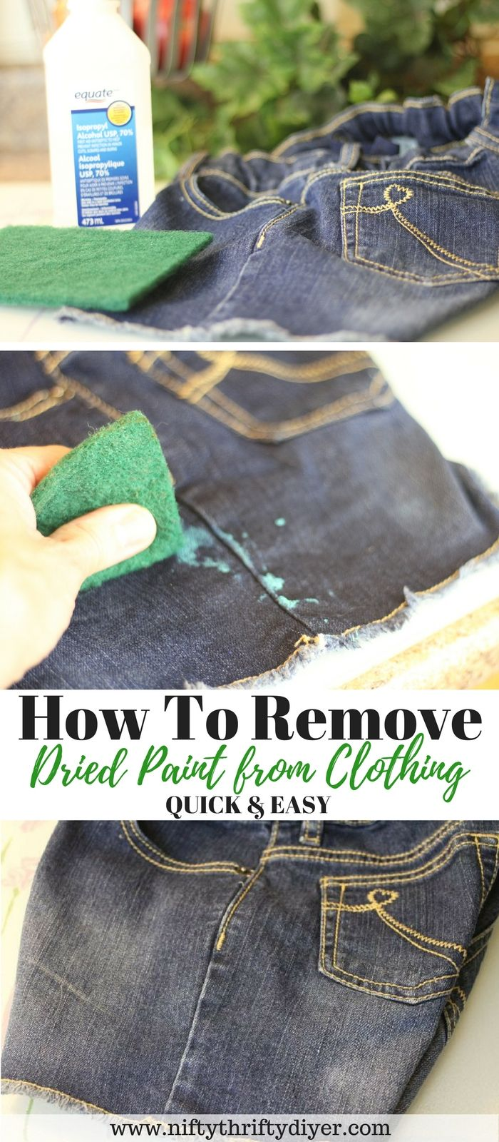 How To Remove Dried Paint From Clothing Quick And Easy With