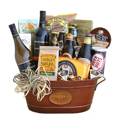 Basket Of Cheer Beer And Wine Gift Basket For Any Holiday Or Celebration A Great Corporate Or