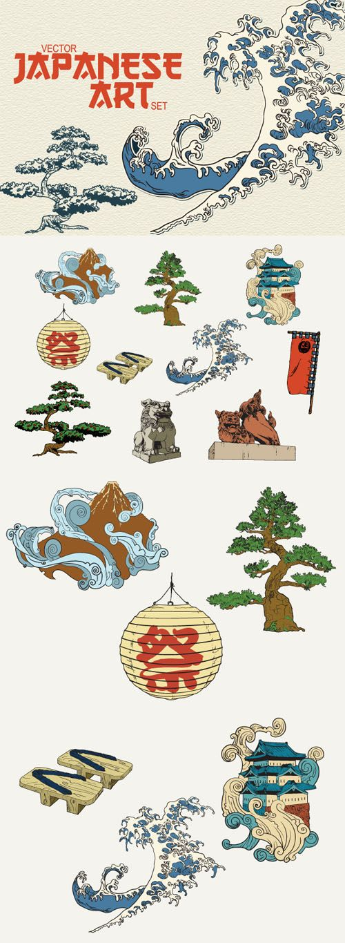 traditional Japanese elements - Google Search