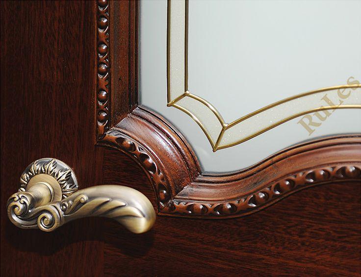 """Детали двери """"Венеция"""" в отделке африканский дуб патина #двери #межкомнатные #интерьер #витраж #interior"""