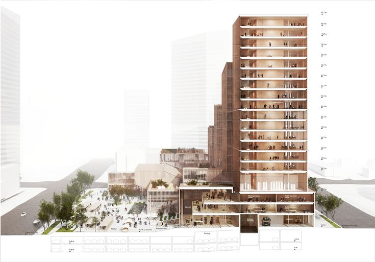 Gallery of Henning Larsen Wins Competition for Microclimate-Creating Civic Center in Toronto - 10