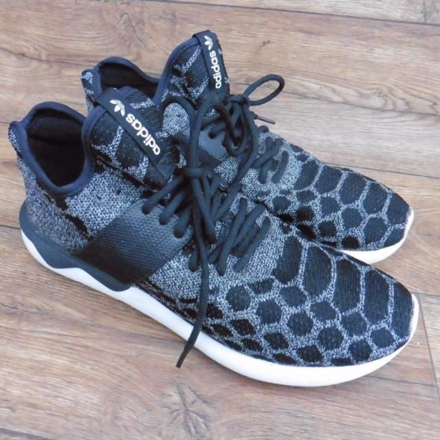SIZE UK 11.5 ADIDAS TUBULAR RUNNER PRIMEKNIT GREY BLACK TRAINERS RUNNING SHOES | eBay