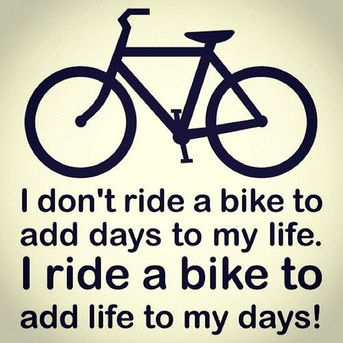 I ride a bike to...