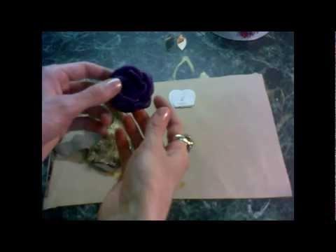 Как сделать брошь из кожи в виде цветка. Часть II - YouTube