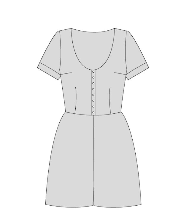 Holly Jumpsuit - Paper Sewing Pattern – By Hand London