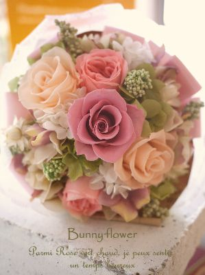 Bunny flower★http://ameblo.jp/blog-charis/プリザーブドフラワー花束、ブーケ