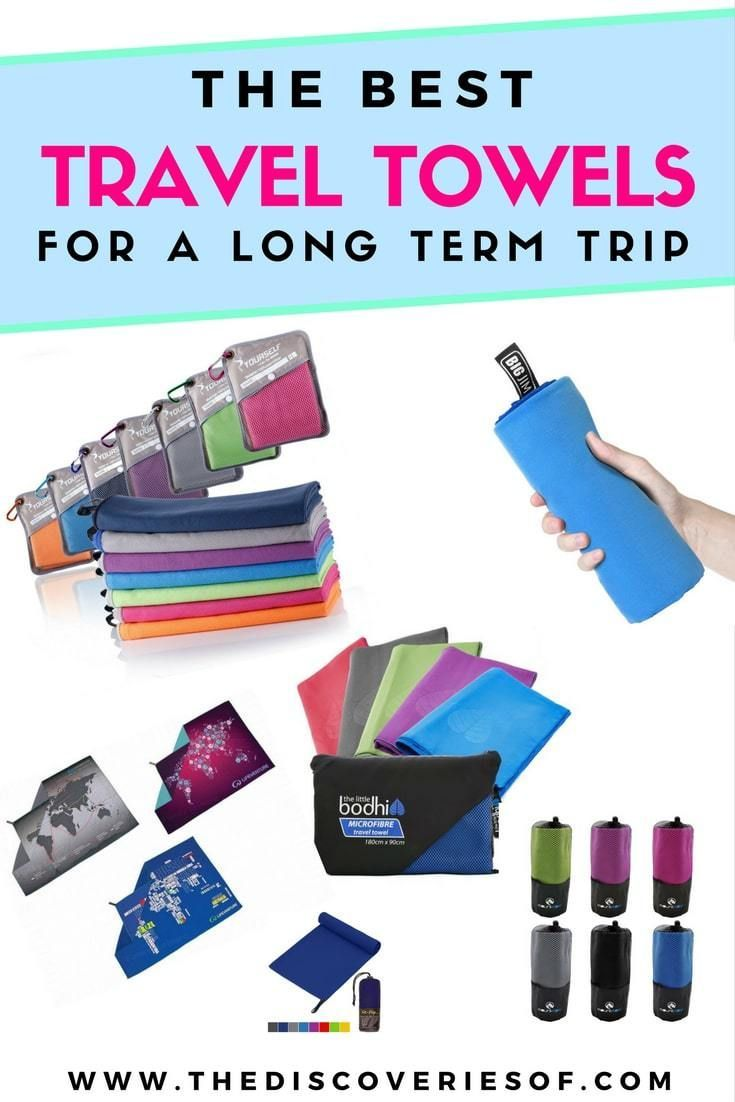 The best travel towels reviewed. Towels are the travel essentials you never think about but always need. Read this list of travel towels - part of our backpacking tips, packing tricks and product reviews series #backpacking #travelessentials