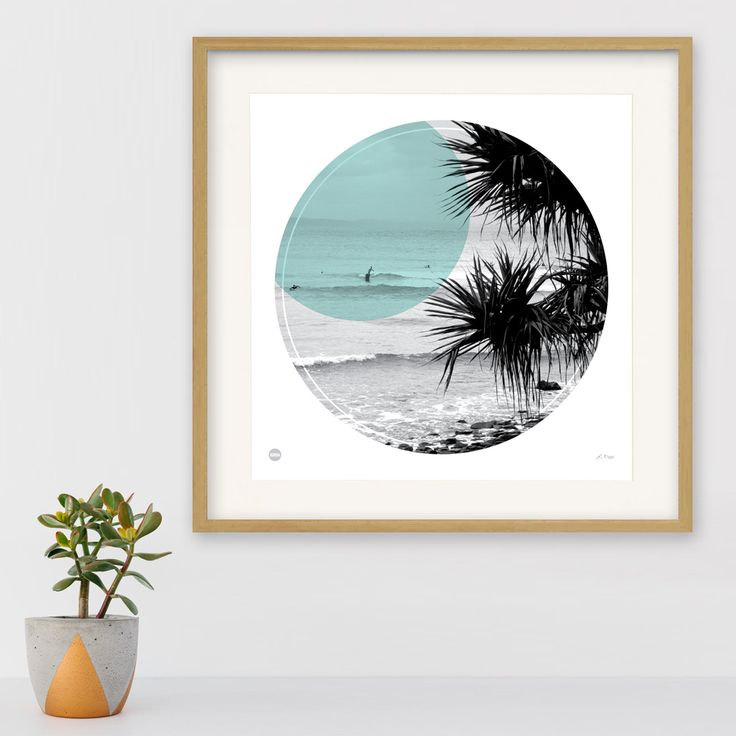 Noosa National Park with it's iconic tree lined beaches, and blissful coastal scenery. We've pictured just that with our Noosa circle print, in beautiful duck egg blue. Limited edition, signed and numbered. Designed by Burbia.