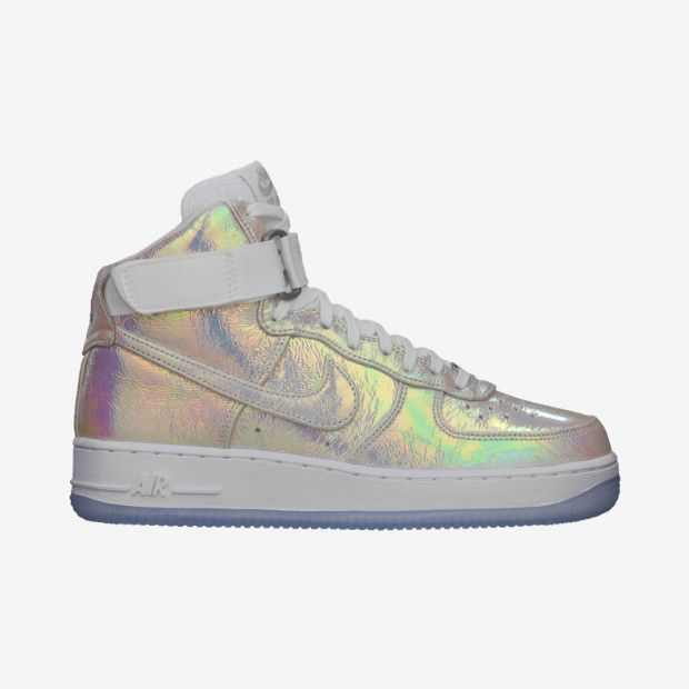 on sale 2a4e7 b44c3 ... Iridescent Pearl  Nike Air Force 1 Hi Premium Women s Shoe ...
