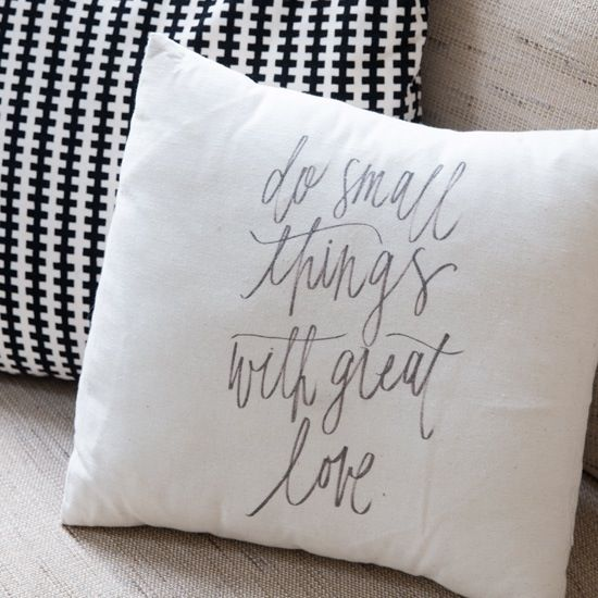 Image of Do Small Things Pillow Cover