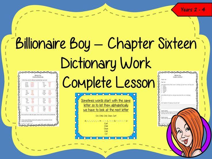 Dictionary Work Lesson – Billionaire Boy