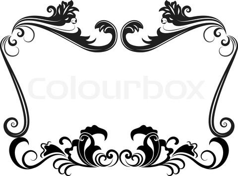 Free black Clip Art Borders and Frames weddings | Stock ...