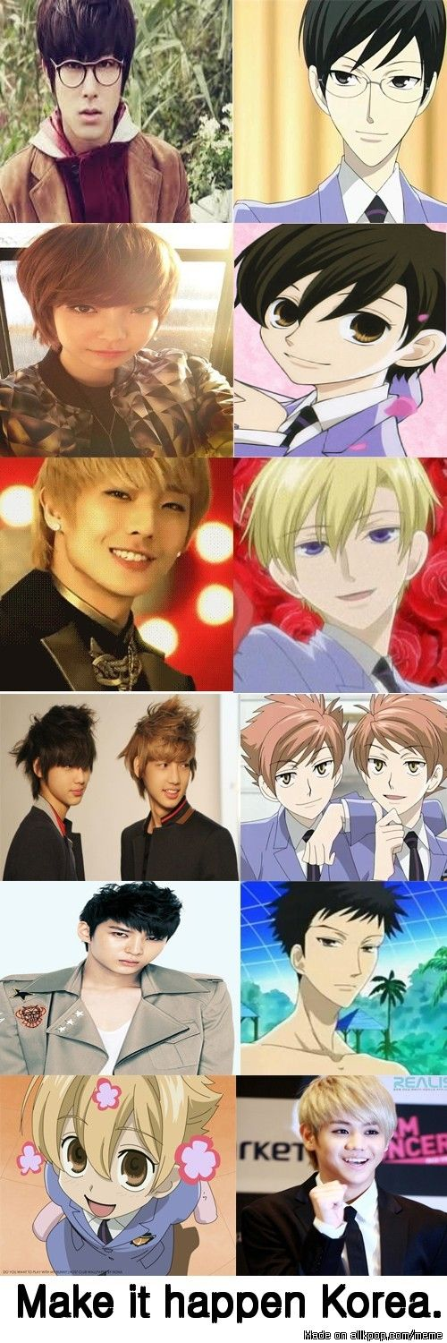 kpop and Ouran highschool host club oh goodness! yess tamaki relaly reminds me of lee joon