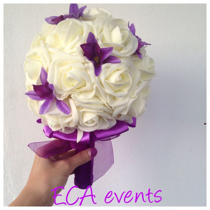 wedding bouquet , bridalbouquet , handmade, nunta , buchet de mireasa , broochbouquet bijoux weddings candle ceremonie wedding church bride groom bridesmaid ECA events wedding flowers concarde butoniere groomflowers groom godmother bestman FOR SALE foam roses purple