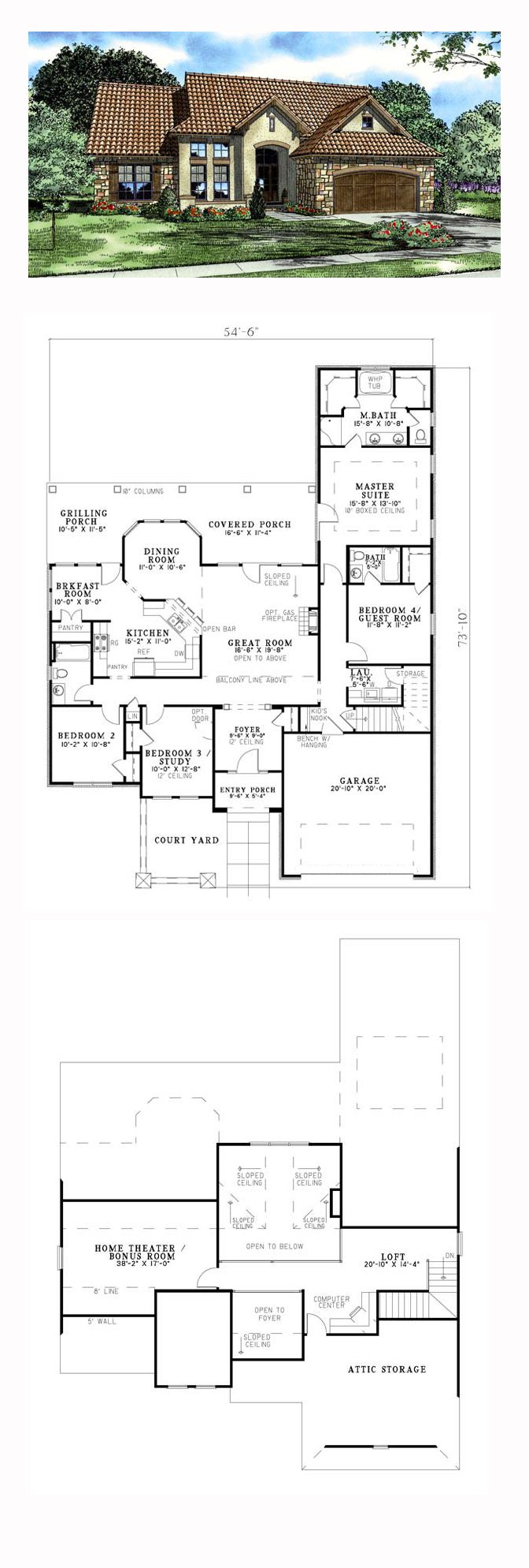 Italian House Plan 82119 Total Living