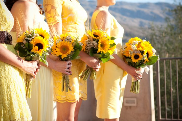 Sunflower wedding Arizona wedding at Tanque Verde Guest Ranch Tucson AZ Elizabeth McDonnell Photography