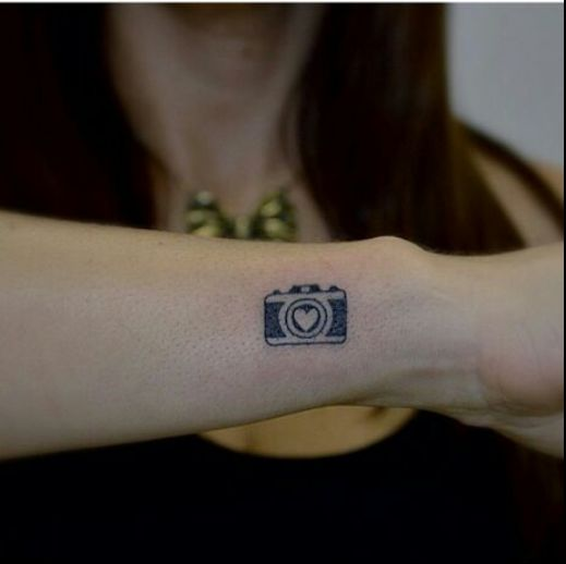 cute camera tattoo