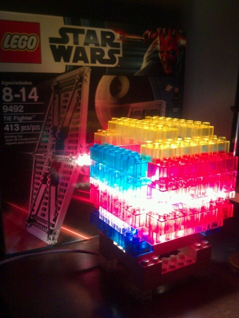 cool night light idea lego lamp