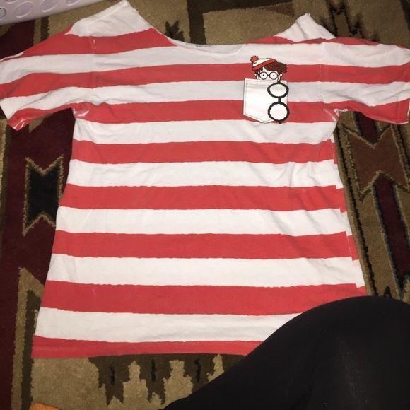 Where is Waldo? Shirt Where is Waldo? Cut off Shirt, Hot Topic Tops Tees - Short Sleeve