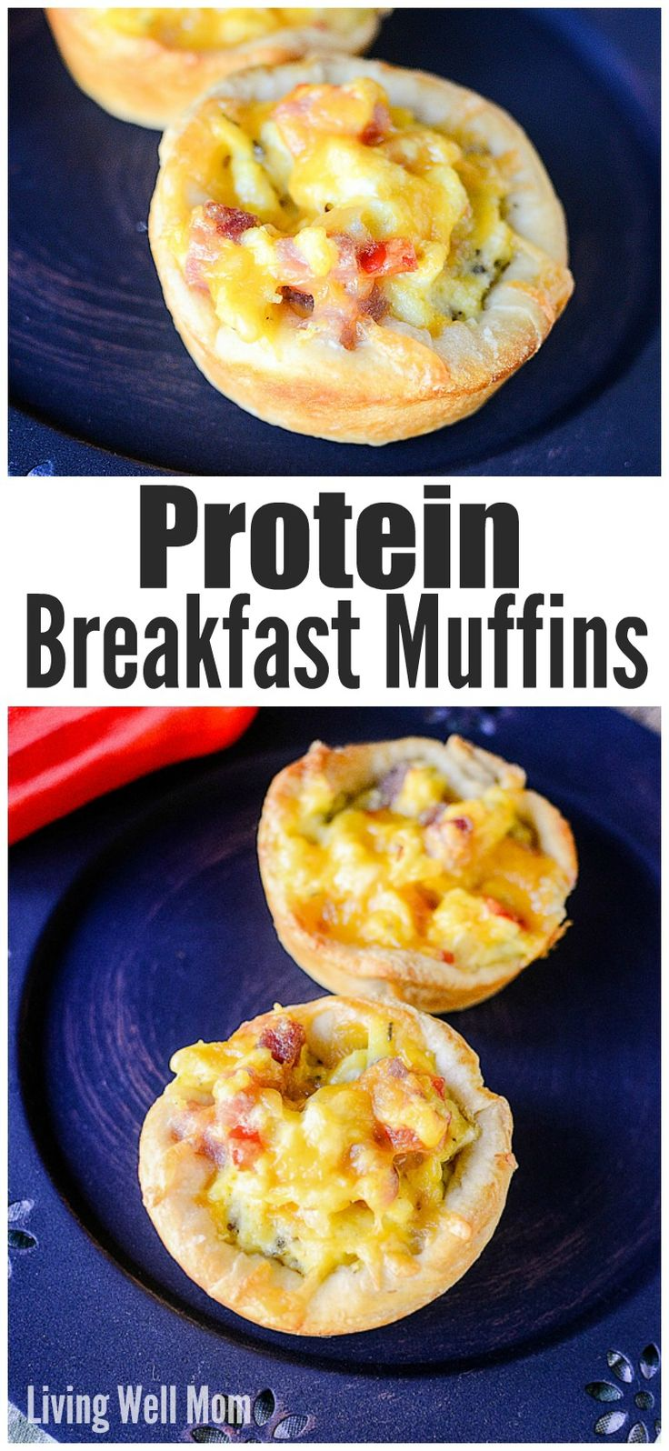 Here's a tasty on-the-go recipe for a hearty breakfast - Protein Breakfast Muffins! They're both adult and kid-approved and are great for making ahead and freezing too!