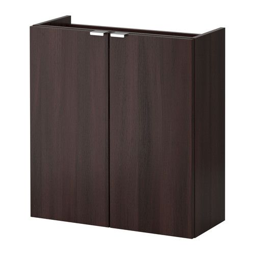 LILLÅNGEN Wash-basin cabinet with 2 doors - black-brown, 60x25x64 cm - IKEA