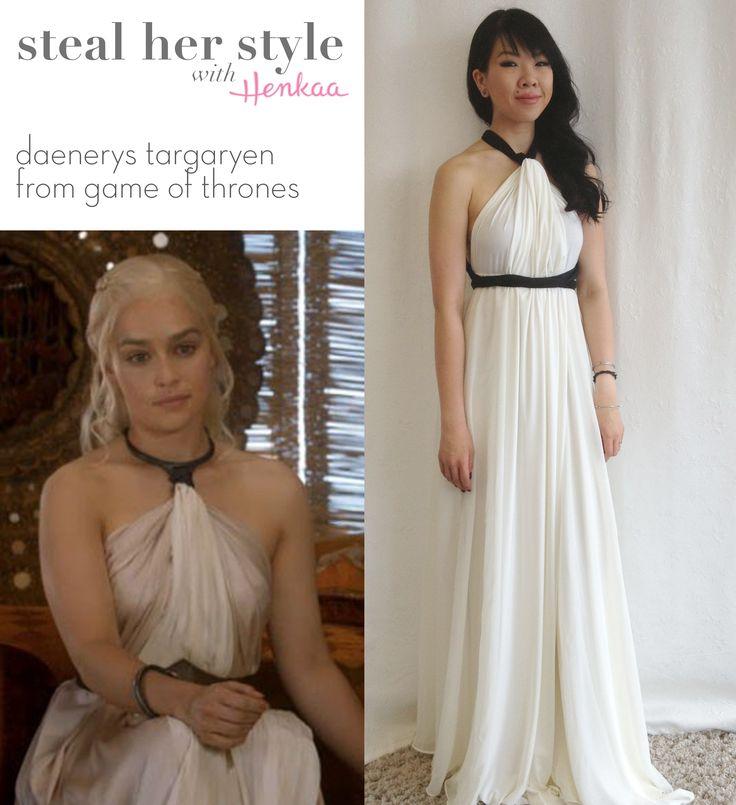 Steal Daenerys Targaryen's Style! Look like a khaleesi in a convertible dress & sash :)