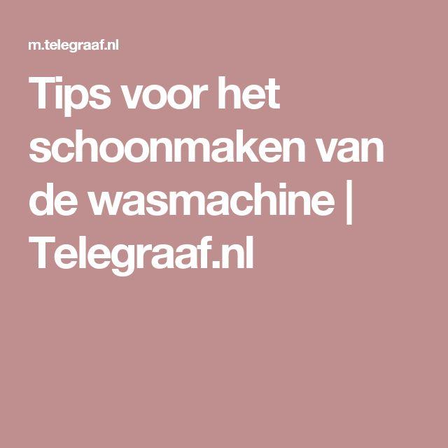Tips voor het schoonmaken van de wasmachine | Telegraaf.nl