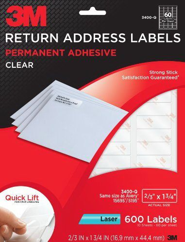 3M Return Address #Label: Quick Lift design. Fast #labeling. #Clearlabel on envelopes and boxes.