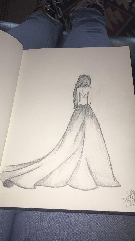 Bleistiftzeichnung – Kleid 2. –