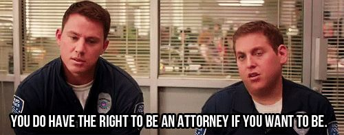 You DO have the right to be an attorney, love this movie!!
