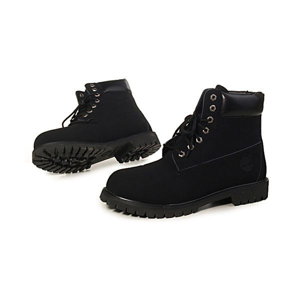 Botas Timberland Mujeres Timberland 6 Inch Boots all black (120 CAD) ❤ liked on Polyvore featuring shoes, boots, footwear, black, black boots, timberland footwear, kohl shoes, kohl boots and black shoes