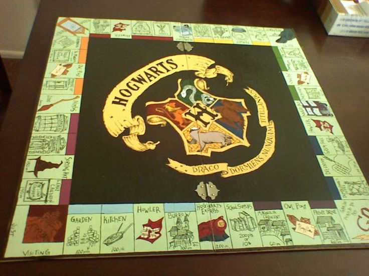 harrypotteropoly Awesome Homemade Board Games930www.forevergeek.com  DIY Board game