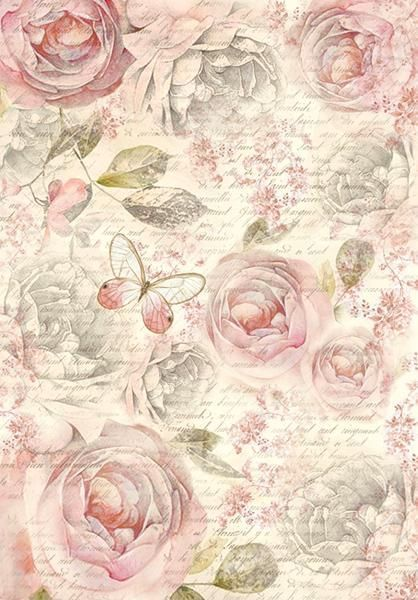 Motiv Strohseide Shabby Rose Mixed Media Pinterest Decoupage