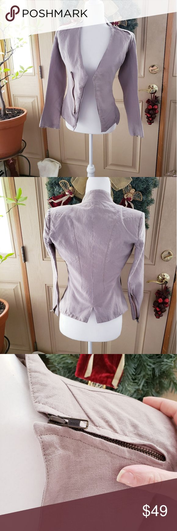 Improvd Gray Beige Motto Jacket Womens Size Small Jackets For Women Womens Sizes Clothes Design [ 1740 x 580 Pixel ]
