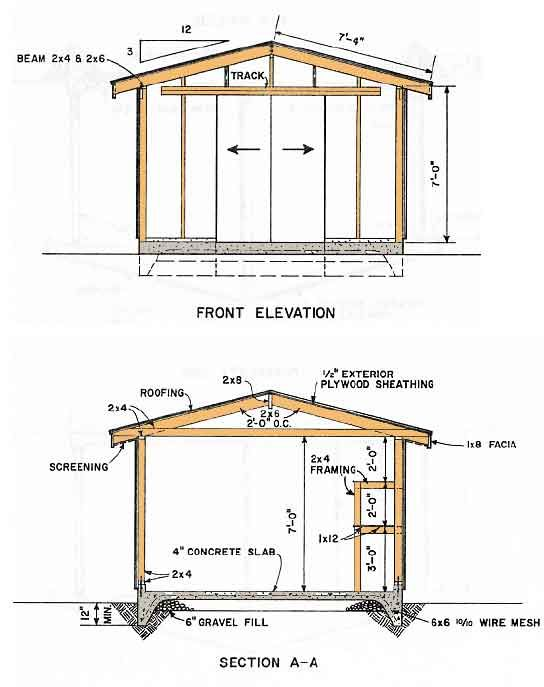 1000 ideas about wood shed plans on pinterest shed Workshop plans 12x16